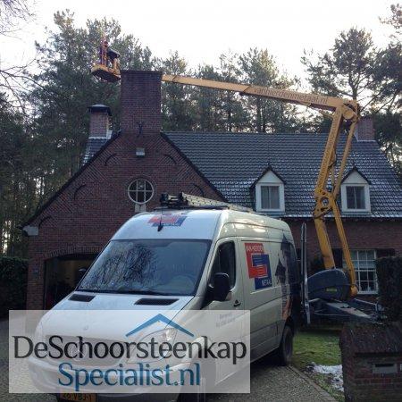 RVS schoorsteenkap in Belgie geplaatst