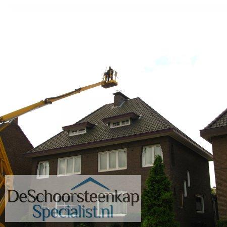 monteren schoorsteenkap schoorsteenkappen
